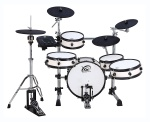 White Wood coloured XM World Groove Series J-8SR eDrum kit