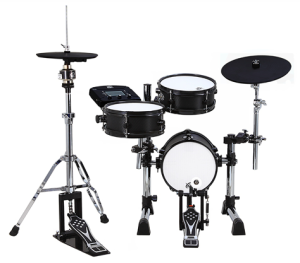 "The smaller B10-8SR has the XM 8S module, a 10"" bass drum, 10"" snare, 10"" tom tom, 13"" cymbal and 11"" hi-hat."