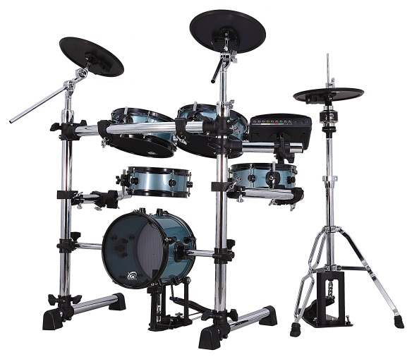 XM Tempo Series T-5SR eDrum kit in blue