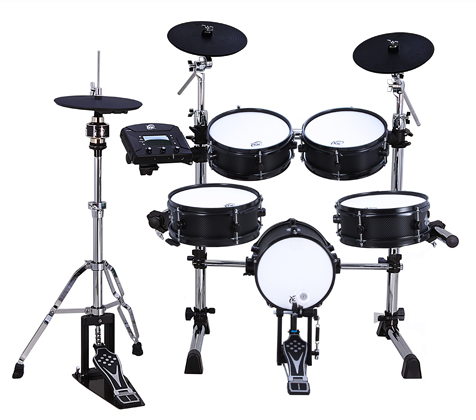 Front view of the XM Tempo Series T-5SR eDrum kit: For beginners, it doesn't get any better than this when it comes to digital drums.